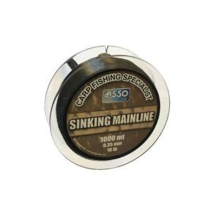 Fir pentru Crap Asso Sinking Mainline Brown 0.28mm 1000m 4.54kg