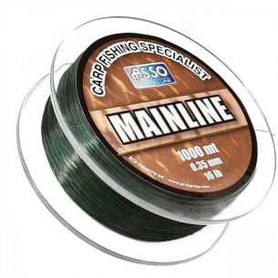 Fir pentru Crap Asso Mainline Green 0.30mm 1000m 5.44kg