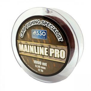 Fir pentru Crap Asso Mainline Pro Brown 0.28mm 1000m 4.54kg