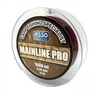 Fir pentru Crap Asso Mainline Pro Brown 0.30mm 1000m 5.44kg