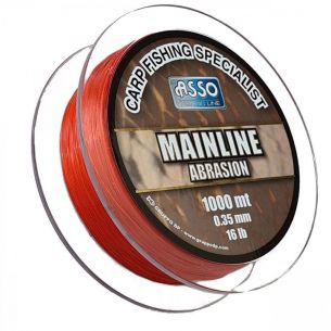 Fir pentru Crap Asso Mainline Abrasion Red 0.35mm 1000m 7.26kg