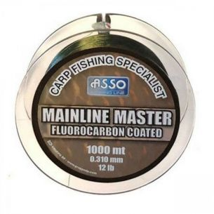 Fir pentru Crap Asso Mainline Master Green 0.40mm 1000m 9.07kg
