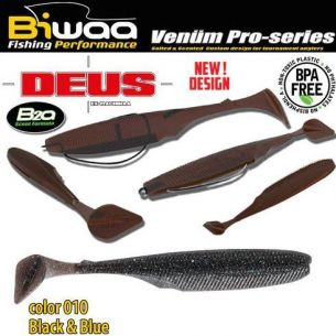 Shad Biwaa Deus Black & Blue 10cm 7buc