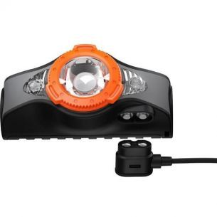 Lanterna Cap Led Lenser MH11 Bluetooth Black Orange 1000LM