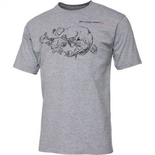 Tricou Savage Gear Cannibal Ink Grey Melange L