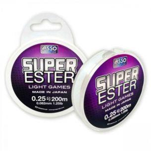 Fir Pastrav Asso Super Ester White-Fluo 0.128mm 200m