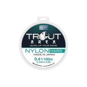 Fir Trout Area Asso Nylon Hard Gri 0.128mm 100m 1.35kg