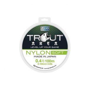 Fir Trout Area Asso Nylon Soft Verde 0.104mm 100m 0.9kg