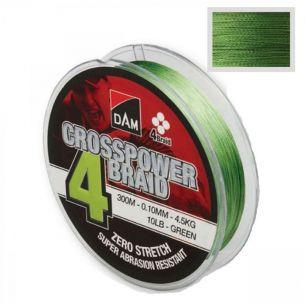 Fir DAM Crosspower 4 Braid Green 0.15mm 150m 8.1kg