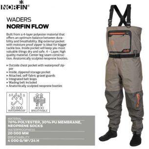 Waders Pescuit la Musca Norfin Flow S