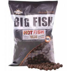 Boilies Dynamite Baits Hot Fish GLM 15mm 5kg