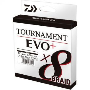 Fir Textil Daiwa Tournament 8xBraid EVO+ Alb 0.16mm 135m 12.2kg