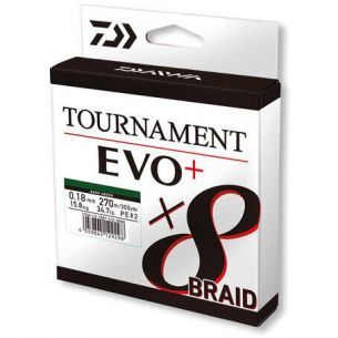 Fir Textil Daiwa Tournament 8xBraid EVO+ Verde 0.16mm 270m 12.2kg