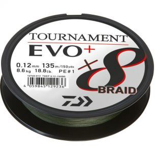 Fir Textil Daiwa Tournament 8xBraid EVO+ Verde 0.18mm 270m 15.8kg