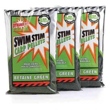 Pelete Dynamite Baits Betain Green Pellets 2mm 900g