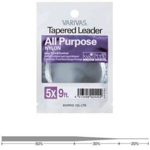 Varivas All Purpose Nylon Leader 7X 12ft