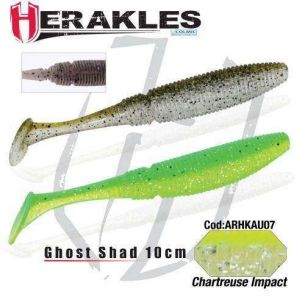Shad Herakles Ghost Shad Chartreuse Impact 10cm 8buc