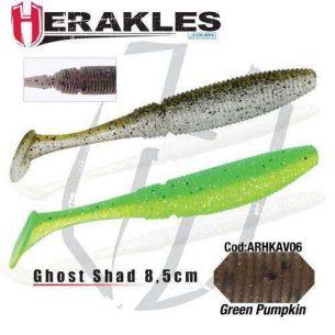 Shad Herakles Ghost Shad Green Pumpkin 8.5cm 8buc